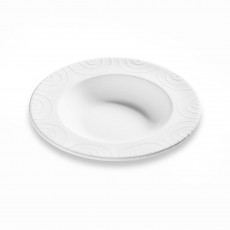 Gmundner Keramik Weißgeflammt Suppenteller Gourmet d: 24 cm / h: 4 cm