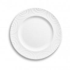 Gmundner Keramik Weißgeflammt Dessertteller / Frühstücksteller Gourmet d: 22 cm / h: 2,2 cm