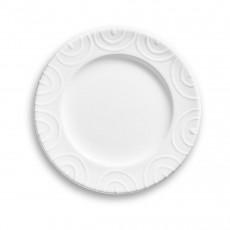 Gmundner Keramik Weißgeflammt Dessertteller / Frühstücksteller Gourmet d: 18 cm / h: 1,8 cm