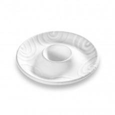 Gmundner Keramik Weißgeflammt Eierbecher glatt d: 12 cm