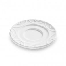 Gmundner Keramik Weißgeflammt Espressountertasse Gourmet d: 11 cm