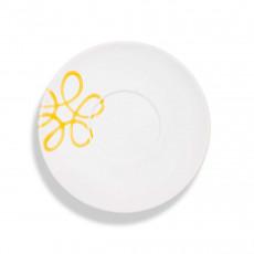 Gmundner Keramik Pur Geflammt Gelb Teeuntertasse Maxima 18 cm