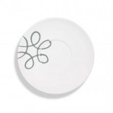 Gmundner Keramik Pur Geflammt Grau Teeuntertasse Maxima 18 cm