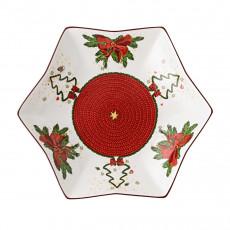 Hutschenreuther Weihnachtszeit Sternschale 24 cm