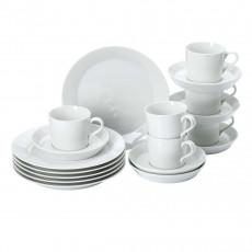 Arzberg Tric Weiß Kaffee-Set 18 tlg.