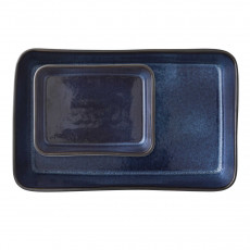 Bitz Gastro black / darkblue Auflaufform Set 2-tlg.