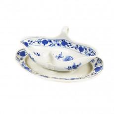 Meissen Zwiebelmuster kobaltblau - weißer Rand Sauciere 0,25 L