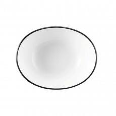 Seltmann Weiden Modern Life Black Line Bowl oval 12x9,5x4,5 cm / 0,18 L