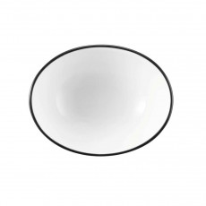 Seltmann Weiden Modern Life Black Line Bowl oval 8,5x6,5x3,3 cm / 0,05 L