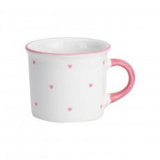 Gmundner Keramik Herzerl Rosa Kaffee Häferl glatt 0,24 L