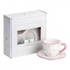 Gmundner Keramik Herzerl Rosa Espresso for you Set 2-tlg.