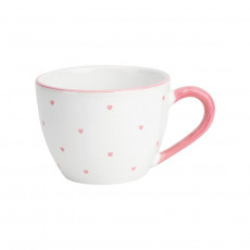 Gmundner Keramik Herzerl Rosa Tee-Obertasse Maxima 0,4 L