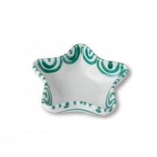 Gmundner Keramik Grüngeflammt Sternschale Stella d: 14 cm / h: 3,9 cm