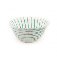 Gmundner Keramik Grüngeflammt Salatschüssel d: 33 cm / h: 14 cm / 4,5 L