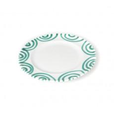 Gmundner Keramik Grüngeflammt Dessertteller / Frühstücksteller Gourmet d: 18 cm / h: 1,8 cm