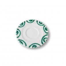 Gmundner Keramik Grüngeflammt Cappuccino-Untertasse Gourmet d: 14 cm