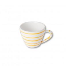 Gmundner Keramik Gelbgeflammt Cappuccino-Obertasse 0,16 L / h: 6,8 cm