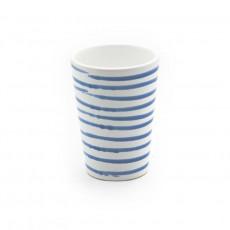 Gmundner Keramik Blaugeflammt Trinkbecher 0,28 L / h: 11 cm
