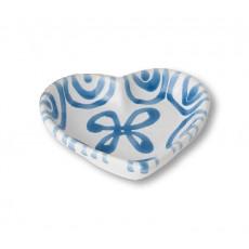 Gmundner Keramik Blaugeflammt Herzschale d: 10 cm / h: 2,4 cm