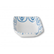 Gmundner Keramik Blaugeflammt Schälchen quadratisch 9x9x3,4 cm