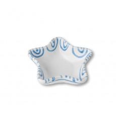 Gmundner Keramik Blaugeflammt Sternschale Stella d: 14 cm / h: 3,9 cm
