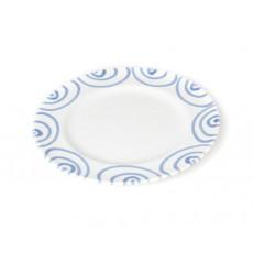 Gmundner Keramik Blaugeflammt Dessertteller / Frühstücksteller Gourmet d: 18 cm / h: 1,8 cm