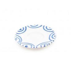 Gmundner Keramik Blaugeflammt Mokka-/Espresso-Untertasse Gourmet d: 11 cm