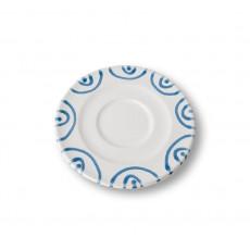 Gmundner Keramik Blaugeflammt Cappuccino-Untertasse Gourmet d: 14 cm