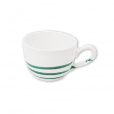 Gmundner Keramik Pur Geflammt Grün Kaffee-Obertasse glatt 0,19 L / h: 6,6 cm