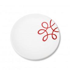 Gmundner Keramik Pur Geflammt Rot Dessertteller / Frühstücksteller Cup d: 20 cm / h: 2,6 cm