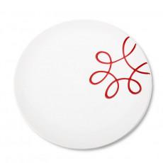 Gmundner Keramik Pur Geflammt Rot Speiseteller Cup d: 25 cm / h: 2,8 cm