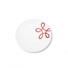 Gmundner Keramik Pur Geflammt Rot Kaffee-/Tee-Untertasse Cup d: 15 cm / h: 2,5 cm