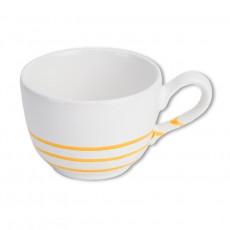Gmundner Keramik Gelbgeflammt Kaffee-Obertasse glatt 0,19 L / h: 6,6 cm