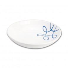 Gmundner Keramik Pur Geflammt Blau Suppenteller Cup d: 20 cm / h: 4,4 cm