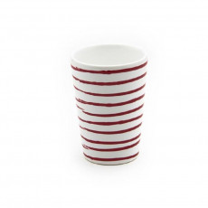 Gmundner Keramik Rotgeflammt Trinkbecher 0,28 L / h: 11 cm