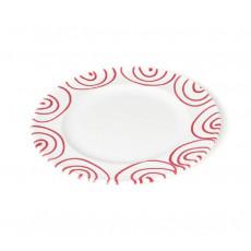 Gmundner Keramik Rotgeflammt Dessertteller / Frühstücksteller Gourmet d: 18 cm / h: 1,8 cm