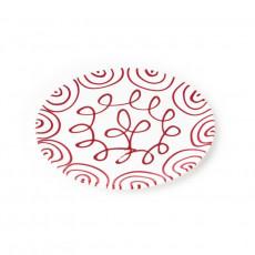 Gmundner Keramik Rotgeflammt Platzteller Cup d: 32 cm / h: 2,2 cm