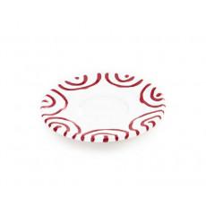 Gmundner Keramik Rotgeflammt Mokka-/Espresso-Untertasse Gourmet d: 11 cm