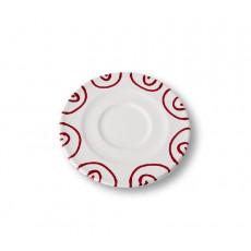 Gmundner Keramik Rotgeflammt Cappuccino-Untertasse Gourmet d: 14 cm