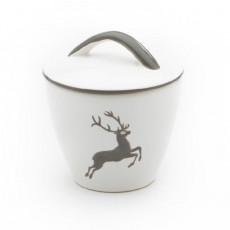 Gmundner Keramik Grauer Hirsch Zuckerdose Gourmet d: 9 cm / h: 10,5 cm