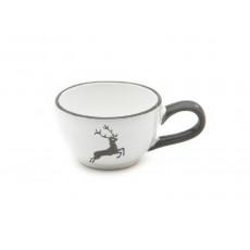 Gmundner Keramik Grauer Hirsch Mokka-/Espresso-Obertasse glatt 0,06 L / h: 4,1 cm