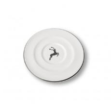Gmundner Keramik Grauer Hirsch Cappuccino-Untertasse Gourmet d: 14 cm