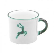 Gmundner Keramik Grüner Hirsch Kaffeehäferl glatt 0,24 L / h: 7,8 cm