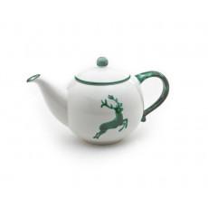 Gmundner Keramik Grüner Hirsch Teekanne glatt 0,5 L / h: 12 cm