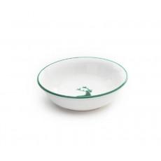 Gmundner Keramik Grüner Hirsch Müslischale klein d: 14 cm / h: 4,5 cm / 0,27 L