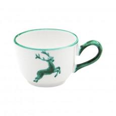 Gmundner Keramik Grüner Hirsch Kaffee-Obertasse glatt 0,19 L / h: 6,6 cm