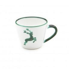 Gmundner Keramik Grüner Hirsch Kaffee-Obertasse Gourmet 0,2 L / h: 7,5 cm