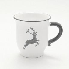 Gmundner Keramik Grauer Hirsch Schokotasse / Schokobecher 0,3 L / h: 9,9 cm