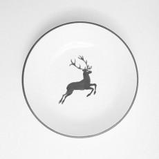 Gmundner Keramik Grauer Hirsch Suppenteller Cup d: 20 cm / h: 4,4 cm