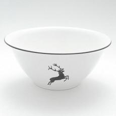Gmundner Keramik Grauer Hirsch Salatschüssel d: 33 cm / h: 14 cm / 4,5 L